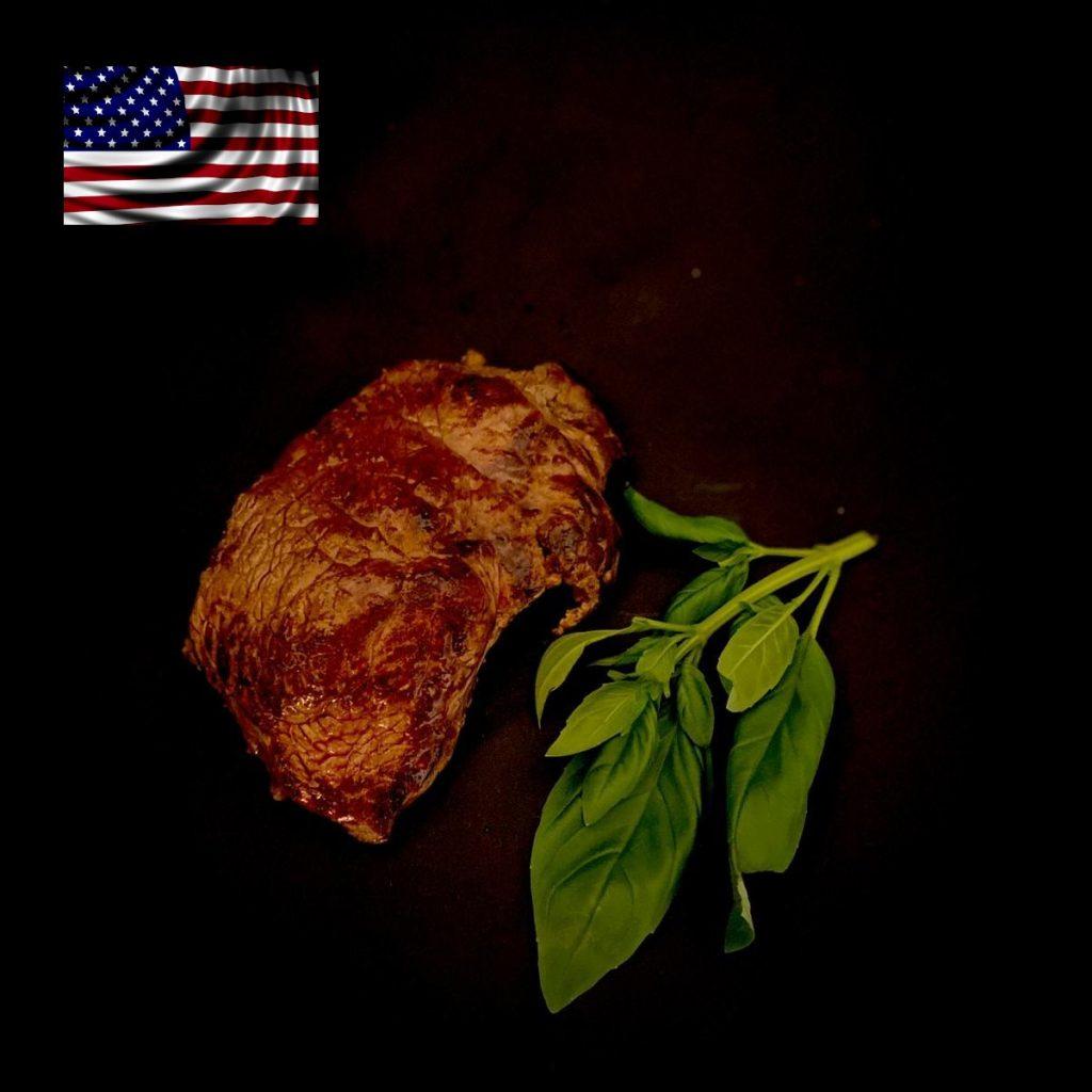 Fleisch aus USA - Bison Steak gegart