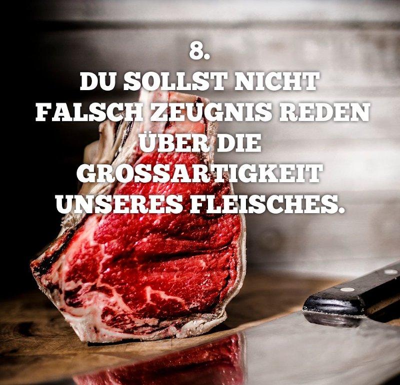 8. Du sollst nicht falsch Zeugnis reden übre die grossartikeit unseres Fleisches.