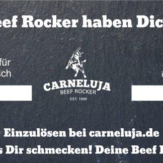 Carneluja Beef Rocker Geschenkkarte