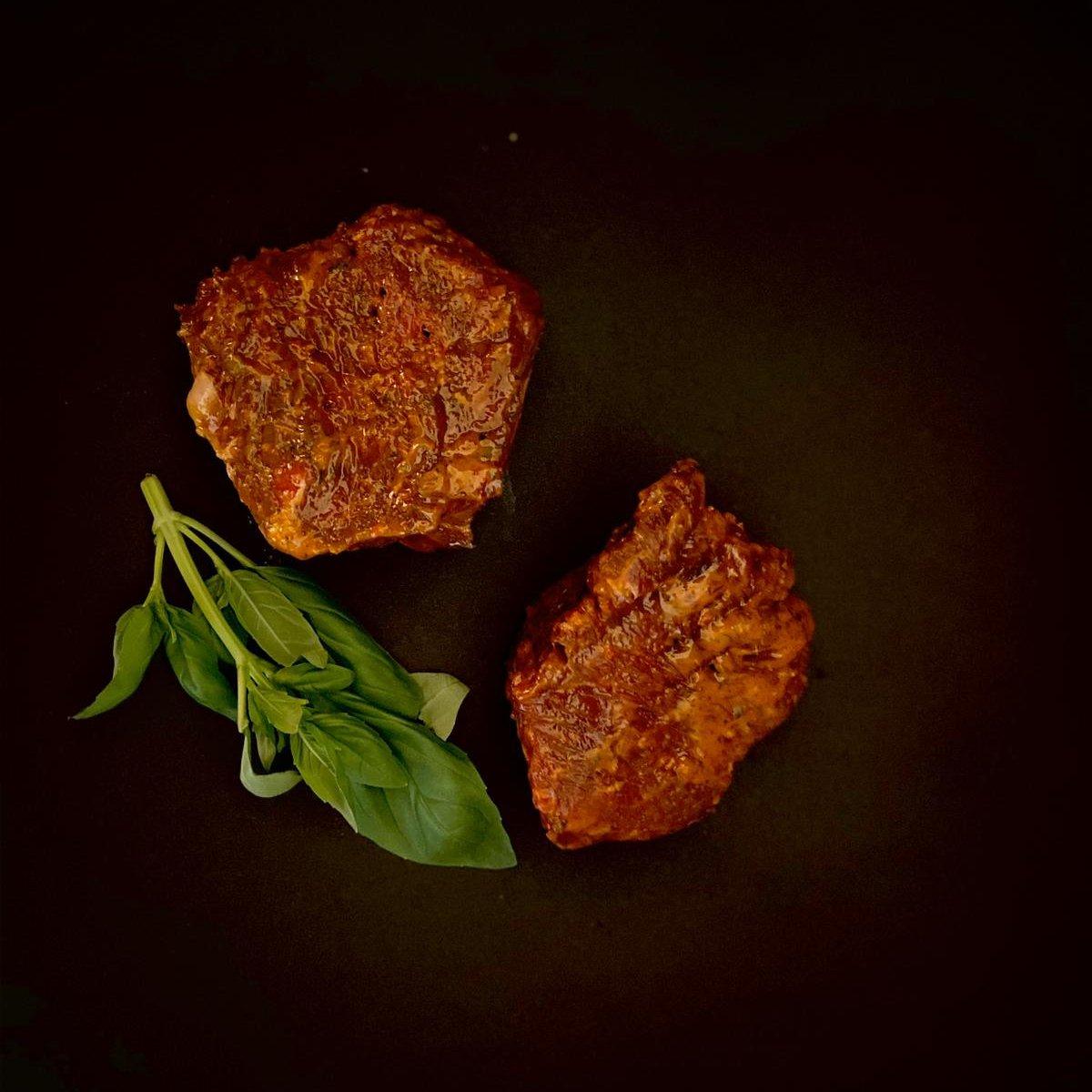 Rinderhüfte in Steakbutter