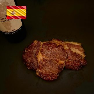 Txogitxu Ribeye in Steaks fertig gegart