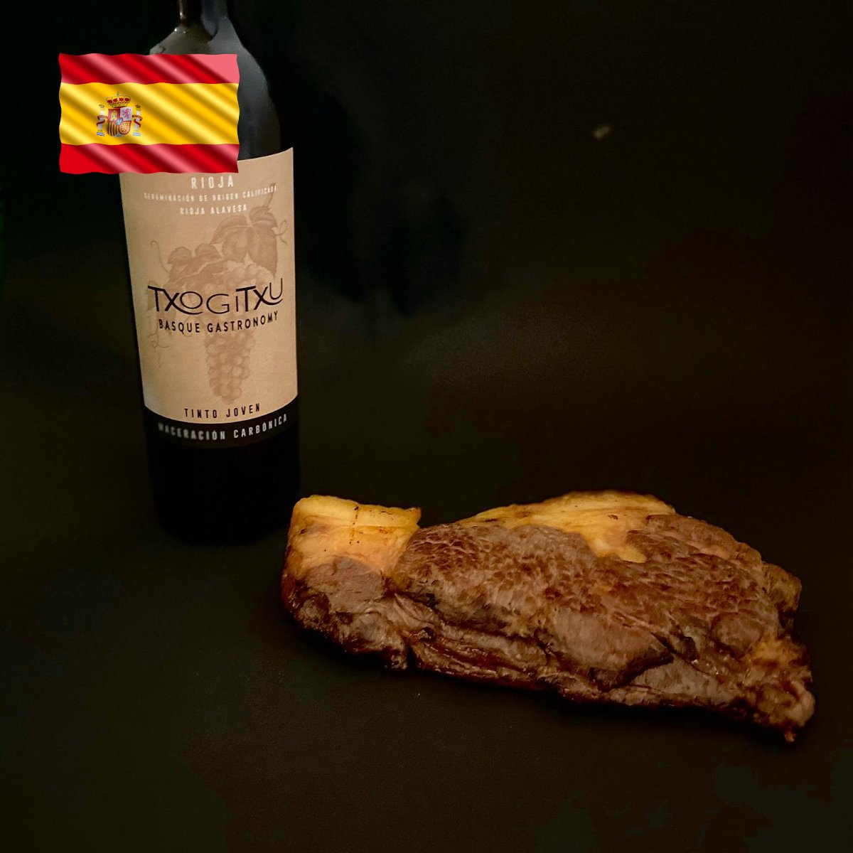 Txogitxu Roastbeef Steak fertig gegart - lecker!
